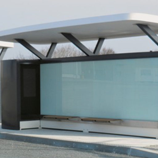 Bluetram bus shelters